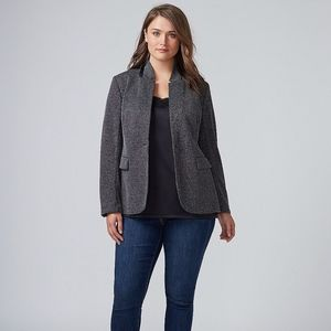 THE BRYANT BLAZER GRAY BLACK TEXTURED DOT JACKET